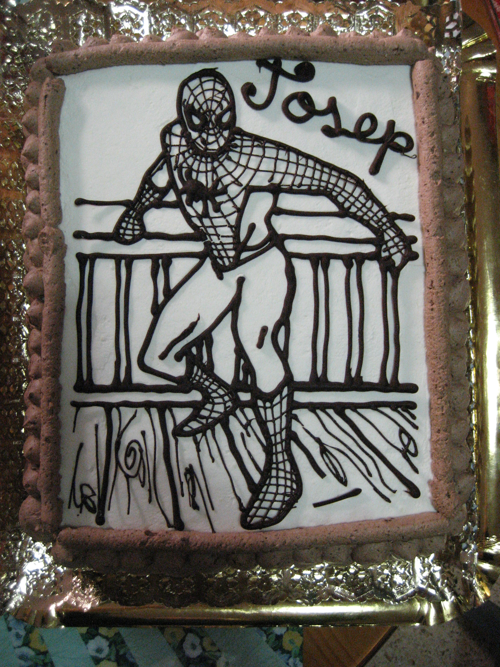 Pastel Spiderman sin colorantes para mi primillo Josep